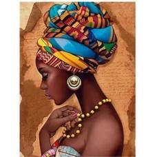 Африканско момиче - диамантен гобленLD 304044