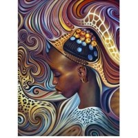 Африканско момиче - диамантен гобленLD 304046