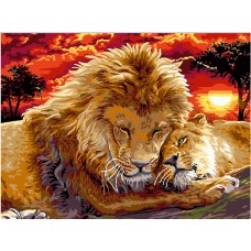 След 13.12.2020 Живопис по номера - Семейство лъвове EX 5274