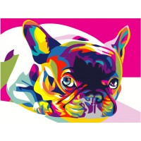 Комплект за рисуване по номера. Шарено кученце – EX 5379