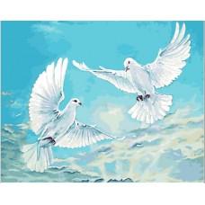 КАРТИНИ ПО НОМЕРА -Бели гълъби