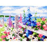 Комплект за рисуване по номера -Градински цветя