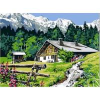 Налично след 5 юни!  Живопис по номера - Планинска къща