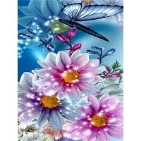 FL 304047 Пеперуди и цветя - Диамантен гоблен