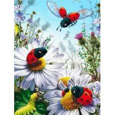 FL 304040 Пеперуди и цветя - Диамантен гоблен
