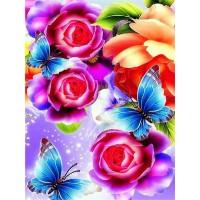 FL 304041 Пеперуди и цветя - Диамантен гоблен