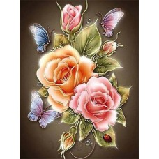 FL 304042 Пеперуди и цветя - Диамантен гоблен