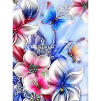 FL 304043 Пеперуди и цветя - Диамантен гоблен