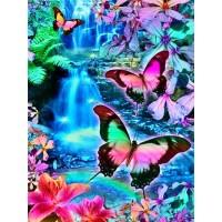 FL 304045 Пеперуди и цветя - Диамантен гоблен