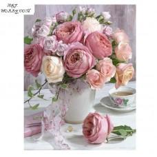 Розови рози- Диамантен гоблен FL 34070