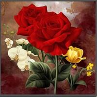 Червената роза - Диамантен гоблен FL 33059