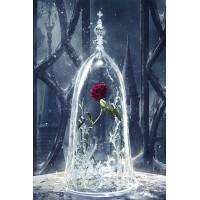 Червена роза под капак - Диамантен гоблен FL 34077