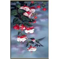 Колибри на клонче - Диамантен гоблен FL 34075
