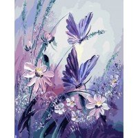 Нежни цветя - Диамантен гоблен FL 34076