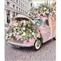Кола с цветя - Диамантен гоблен FL 340856