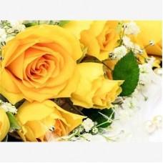 Жълти рози Букет - Диамантен гоблен  FL 304054