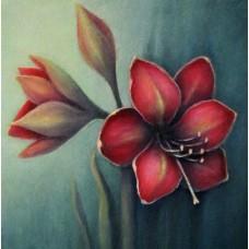 Диамантен гоблен - Червено цвете FL22014