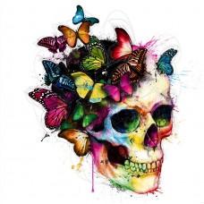 Пеперуди на череп - Диамантени гоблени FL 30305