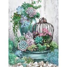 Шарени цветя - диамантен гоблен FL 304090