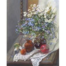 Натюрморт с цветя- диамантен гоблен FL 34051