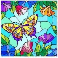Пеперудки - Диамантен гоблен  FL 303034