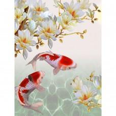 GI 304037 Диамантен гоблен - Рибки за богатство