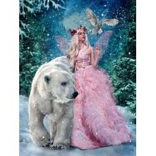 Горска фея с мечока- Диамантен гоблен GI 304021