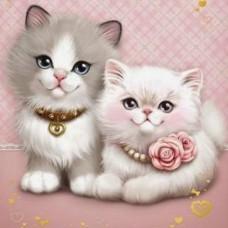 GI 303040  Диамантен гоблен - Мили котенца