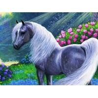 GI 304030 ДИАМАНТЕНИ ГОБЛЕНИ- Кон сред цветя