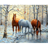 GI 405054-  Коне през зимата