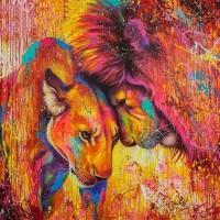 GI 303047  Диамантен гоблен -Лъв