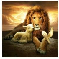GI 303049  Диамантен гоблен -Лъв
