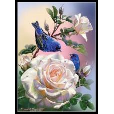 GI 304026 ДИАМАНТЕНИ ГОБЛЕНИ- птици на роза