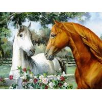 GI 304016 Диамантен гоблен - Двойка коне