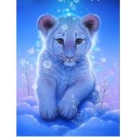 GI 304022 ДИАМАНТЕНИ ГОБЛЕНИ- Бяло тигърче