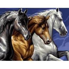 Три коне -Диамантен гоблен GI 304015-1