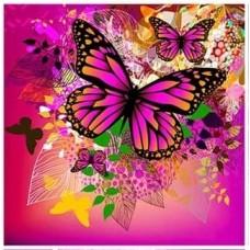 Лилава пеперудка- диамантен гоблен LD 304070