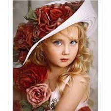 Момиченце в шапка- диамантен гоблен  LD 3404065