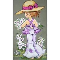 LD 203019 ДИАМАНТЕНИ ГОБЛЕНИ- Мило момиченце с цветя