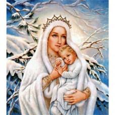 LD 303039 Диамантен гоблен - Снежната кралица с дете