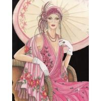 Дама с чадъра - диамантен гоблен LD 304022