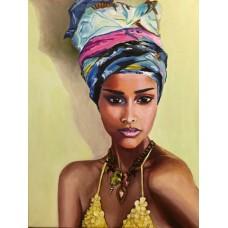 Африканско момиче - диамантен гоблен LD 304012