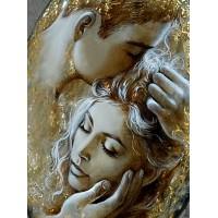 Златна любов - диамантен гоблен LD 304015