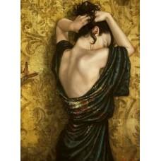 Жена в красива рокля- диамантен гоблен- LD 304029