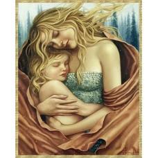 Майка с дете - диамантен гоблен LD 304025