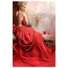 LD 40601 Диамантен гоблен - Дамата в червено