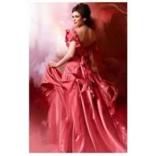 LD 40602 Диамантен гоблен - Дамата в червено