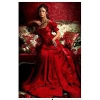 LD 40606 Диамантен гоблен - Дамата в червено