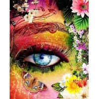 Очи с пеперуди- диамантен гоблен LD 304064