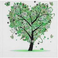 PZ 303061 Диамантен гоблен - Дърво-Сърце